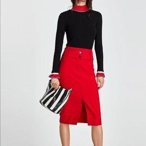 🆕Brand new Zara red skirt